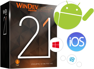 WINDEV Mobile vous permet de créer en quelques heures vos applications iOS, Android, Windows 10 Mobile, ...