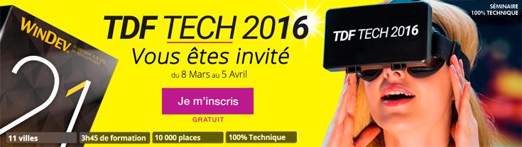 TDF TECH 2016 : Vous êtes invité du 8 mars au 5 avril